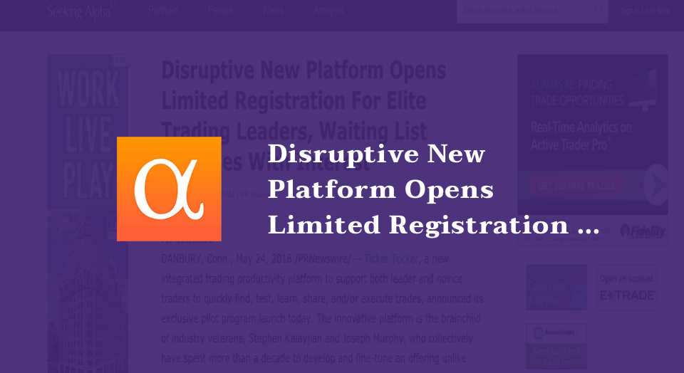Disruptive New Platform Opens Limited Registration For Elite Trading Leaders, Waiting List Explodes With Interest