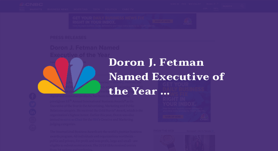 Doron J. Fetman Named Executive of the Year