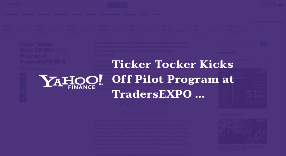 Ticker Tocker Kicks Off Pilot Program at TradersEXPO 2018