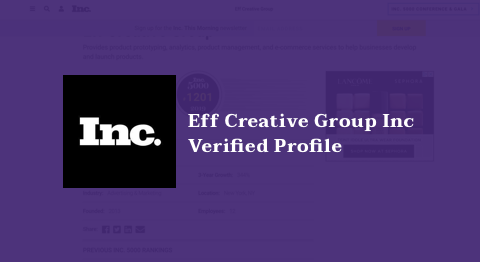 Eff Creative Group Provides product prototyping, analytics, product management, and e-commerce services to help businesses develop and launch products.